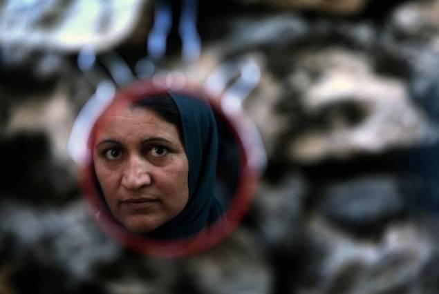 Photo d'archives d'une femme yazidie déplacée par la guerre en Irak. Photo AFP
