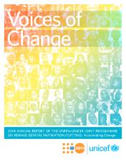 Les voix du changement (couverture en Anglais)