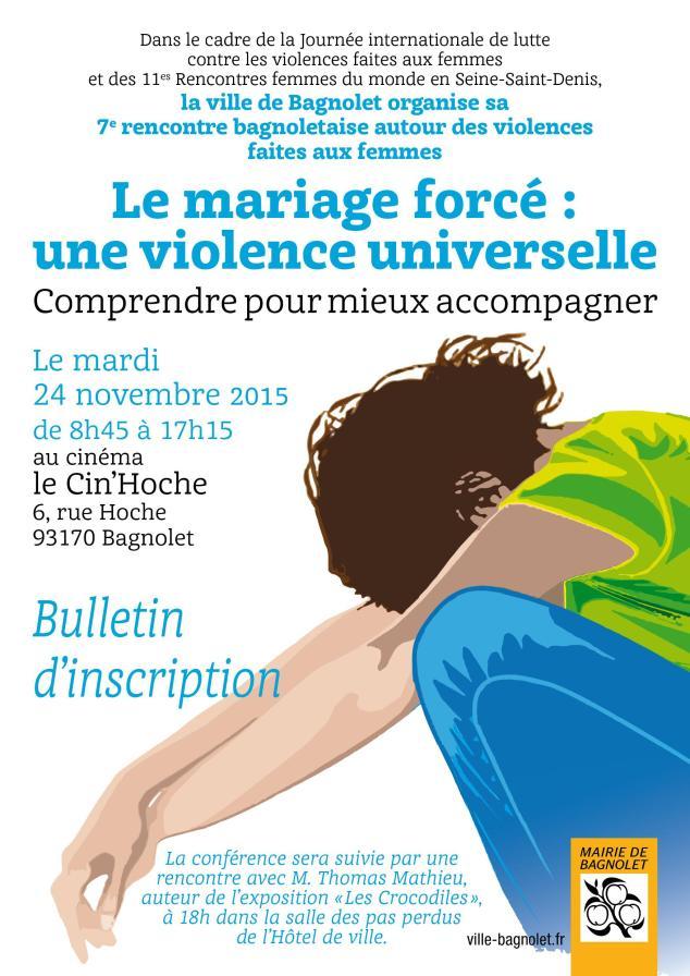 Bulletin d'inscription Bagnolet 20 novembre 2015